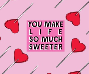 wallpaper, quote, and candy image