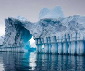 ice, antarctica, and iceberg image