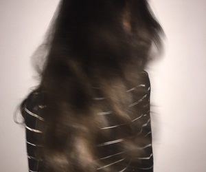 blurry, girl, and hair image