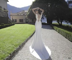 long, beauty, and dress image