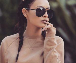 beauty, makeup, and sunglasses image
