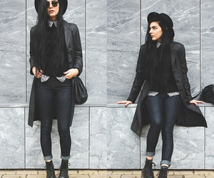 black, moda, and outfit image