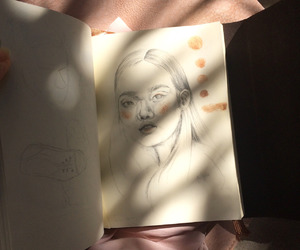 art, artist, and drawing image
