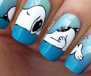 nails, blue, and snoopy image