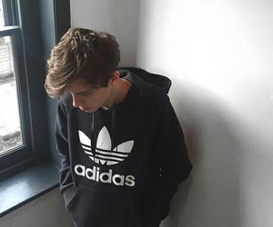 boy, adidas, and black image