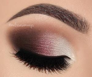 eye, eyebrows, and eyeliner image