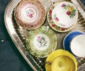 home decor, teacups, and teatime image