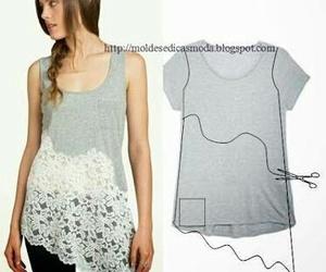 blusa, diy, and shirt image