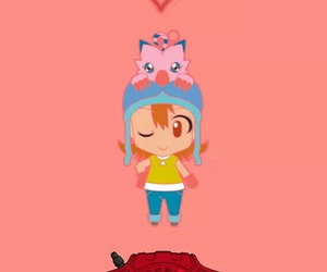 amor, sora takenouchi, and biyomon image