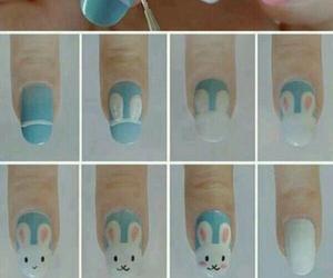 nails, bunny, and diy image