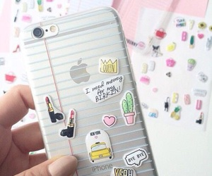 case, iphone, and stickers image