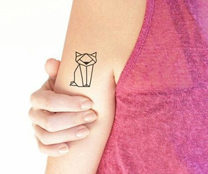 cat, tattoo, and origami image