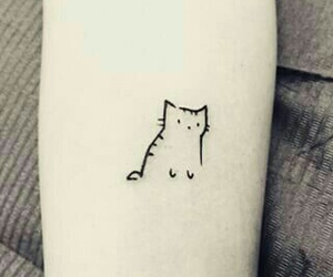 tattoo, cat, and kitty image