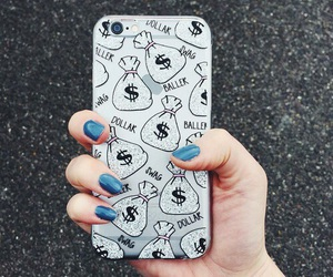case, iphone, and money image