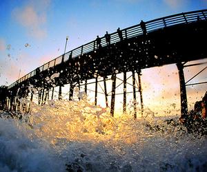 water, photography, and bridge image
