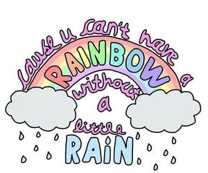rainbow, rain, and overlay image