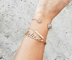 fashion, believe, and bracelet image
