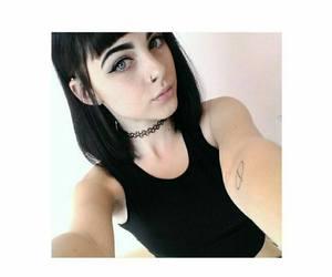 beautiful, black, and short hair image