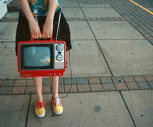 tv, vintage, and retro image