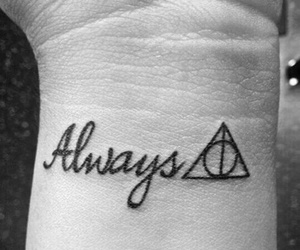 always, harry potter, and tattoo image