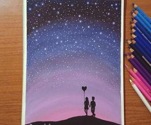 drawing, stars, and art image