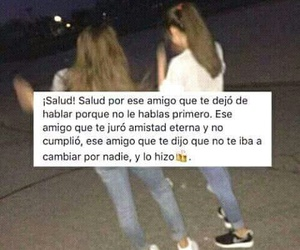 frases, friendship, and amigos image