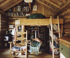 book, room, and wood image