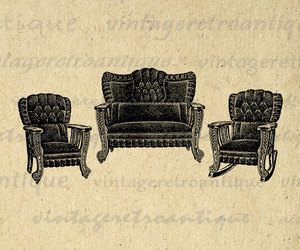 antique, chair, and chairs image