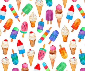 food, ice cream, and pattern image