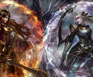 diana, leona, and league of legends image
