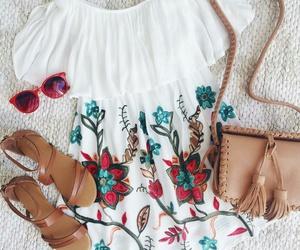 fashon, flores, and lindo image