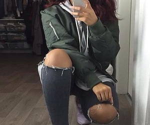 adidas, ripped jeans, and slay image