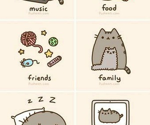 cat, food, and pusheen image
