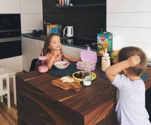baby, play, and breakfast image