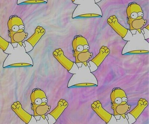 wallpaper, homer, and simpsons image