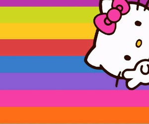 colorful, colors, and hello kitty image