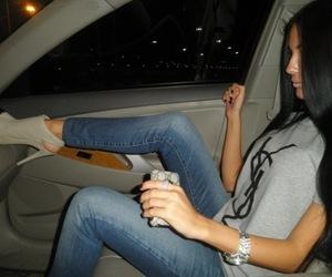 girl, car, and YSL image