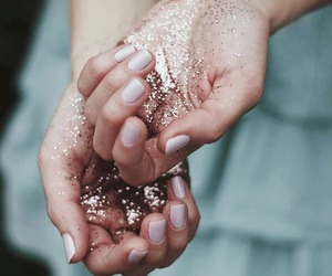 awesome, glitter, and hands image