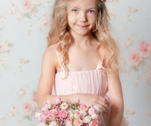 adorable, girl, and roses image