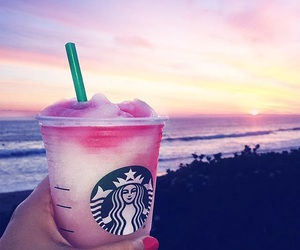 starbucks, drink, and sunset image