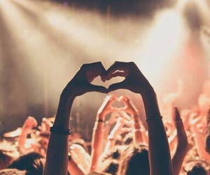 heart, concert, and music image