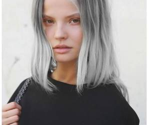 model and hair image