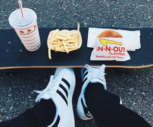 adidas, food, and fries image