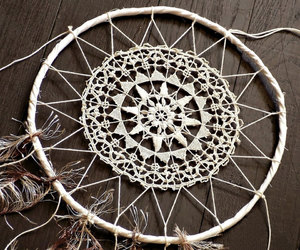 doily, dream catcher, and dreamcatcher image