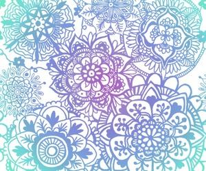 blue, mandala, and wallpapers image