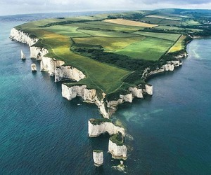 beach, travel, and england image