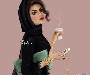 girly_m, drawing, and hijab image