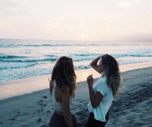 beach, goals, and friendship image