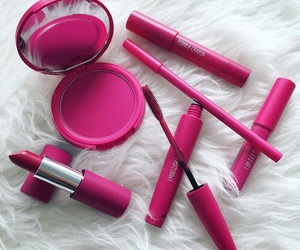 makeup, pretty, and pink aesthetic image