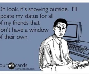 funny, facebook, and snow image